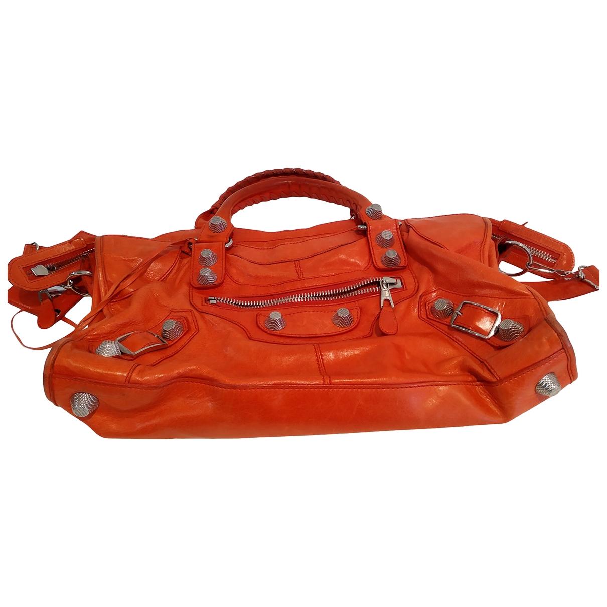 Balenciaga - Sac a main Part Time pour femme en cuir - rouge