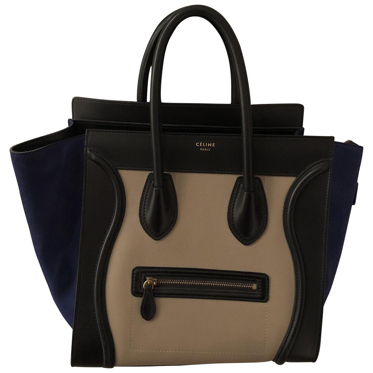 Celine - Sac a main Luggage pour femme en cuir - beige