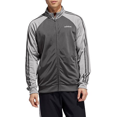 adidas Knit Lightweight Track Jacket, Medium , Gray
