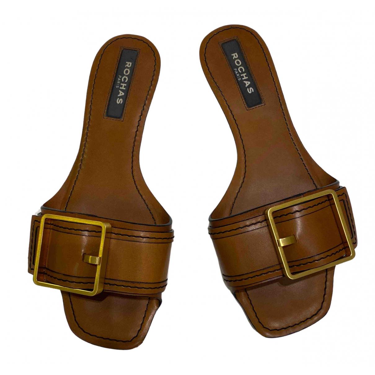 Sandalias romanas de Cuero Rochas