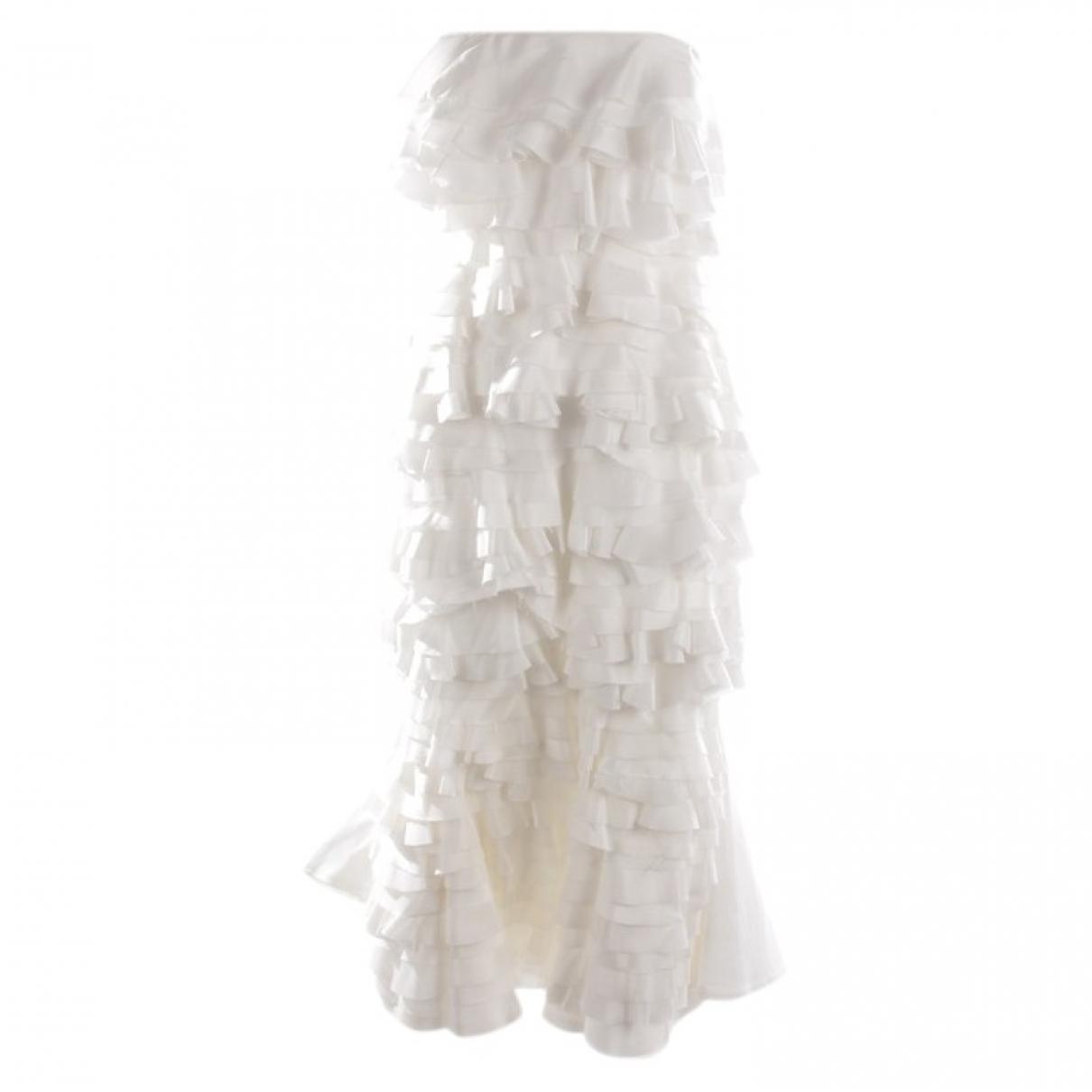 Maggie Marylin \N White Silk dress for Women 36 FR
