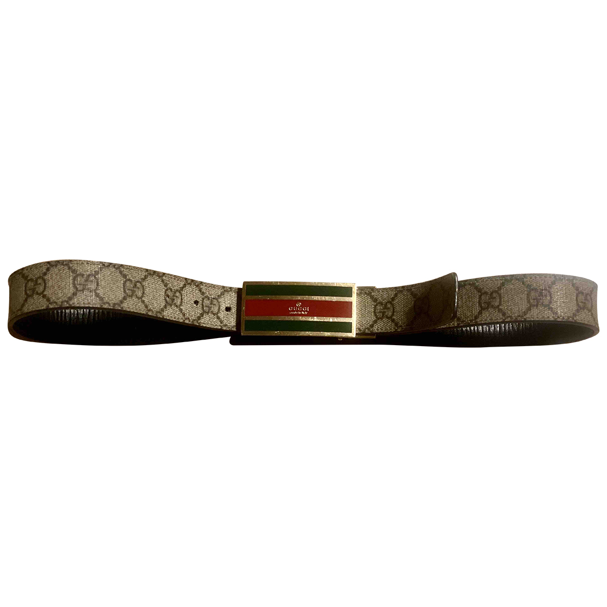 Gucci \N Guertel in  Braun Leder