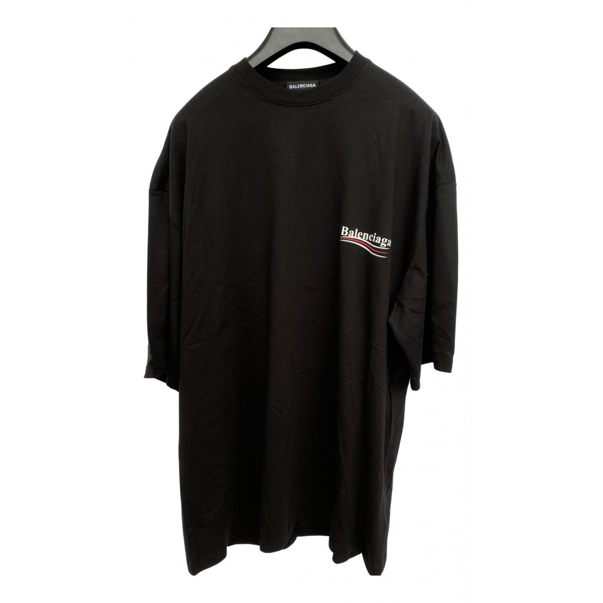 Balenciaga - Tee shirts   pour homme en coton - noir