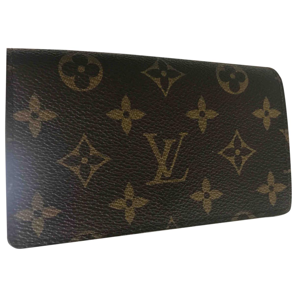 Louis Vuitton Zippy Portemonnaie in  Braun Leinen