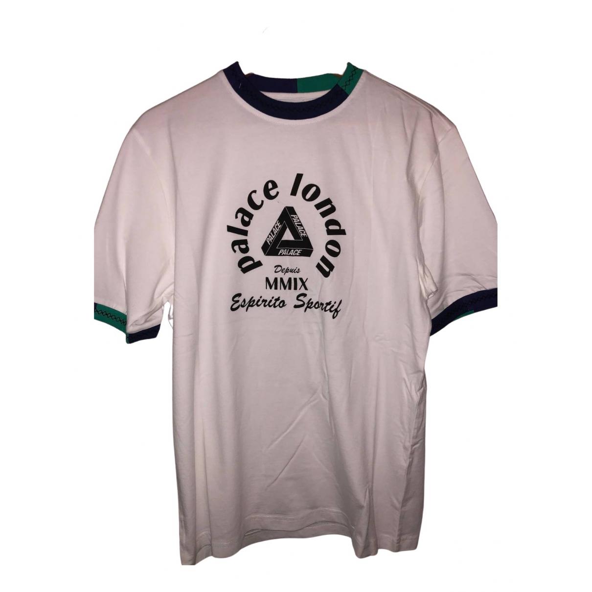 Palace - Tee shirts   pour homme en coton - blanc