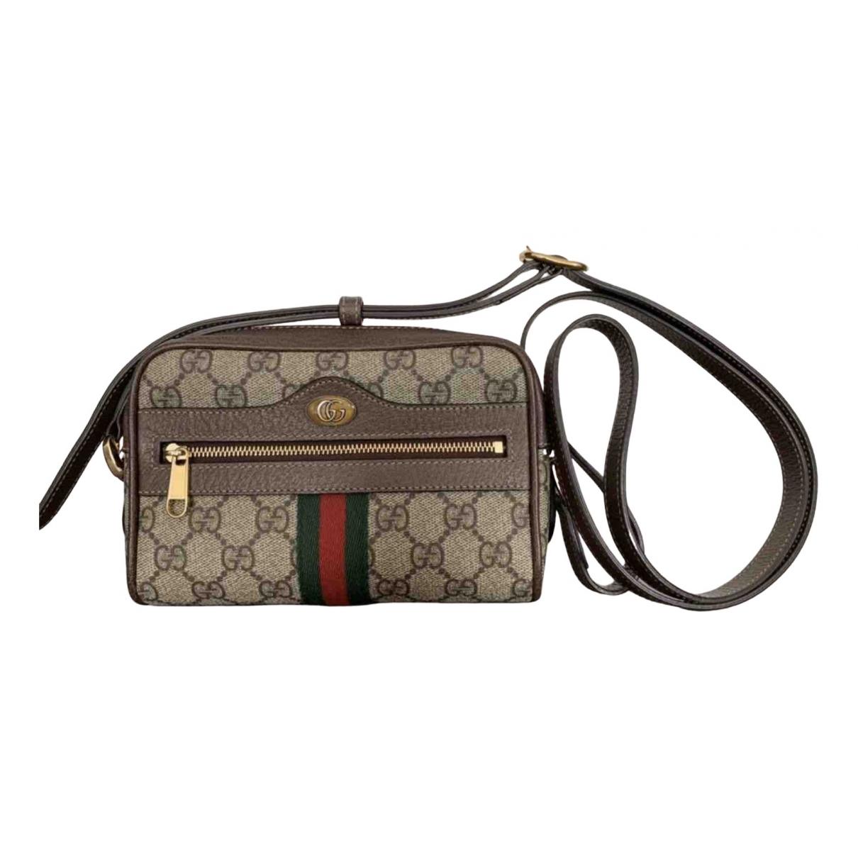 Gucci Ophidia Handtasche in  Braun Leinen