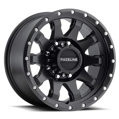 Raceline Wheels Clutch, 17x8.5 with 8x170 Bolt Pattern - Satin Black - 934B-78581-00