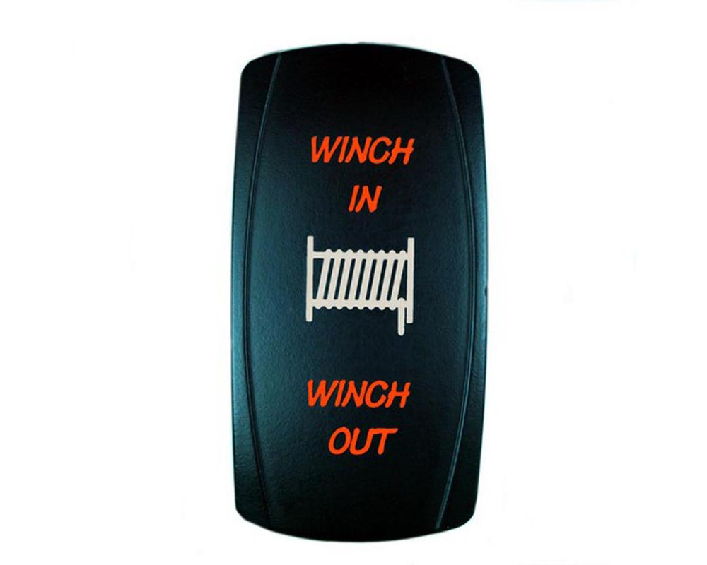 STV Motorsports SLR1049M Momentary Winch In/Out Laser Rocker Switch
