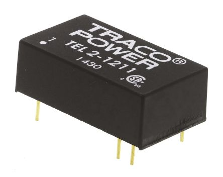 TRACOPOWER TEL 2 2W Isolated DC-DC Converter Through Hole, Voltage in 9 → 18 V dc, Voltage out 5V dc