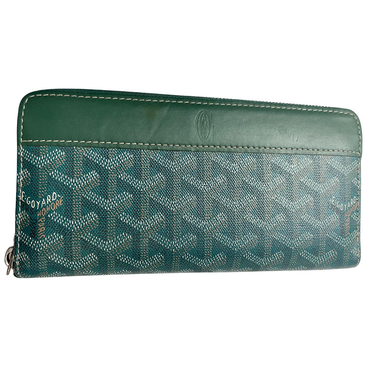Goyard - Portefeuille Matignon pour femme en toile - vert
