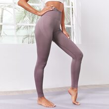 Seamless Wide Waistband Sports Leggings