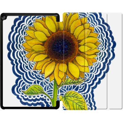 Amazon Fire HD 10 (2018) Tablet Smart Case - Sunflower Drawing von Kaitlyn Parker