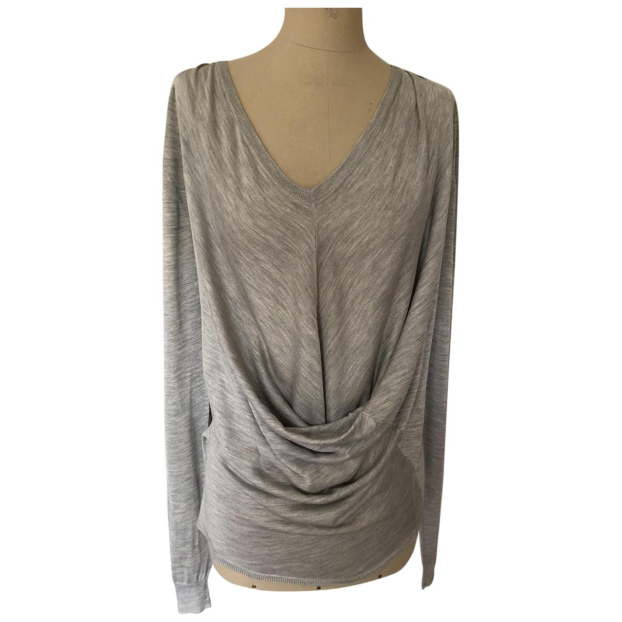 Balenciaga - Pull   pour femme en soie - gris