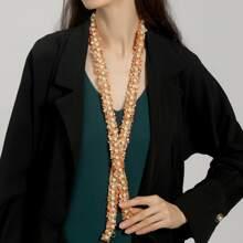 Faux Pearl Decor Necklace
