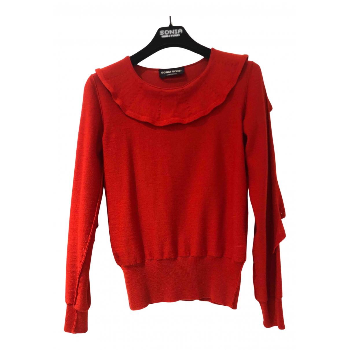 Sonia Rykiel - Pull   pour femme en laine - rouge