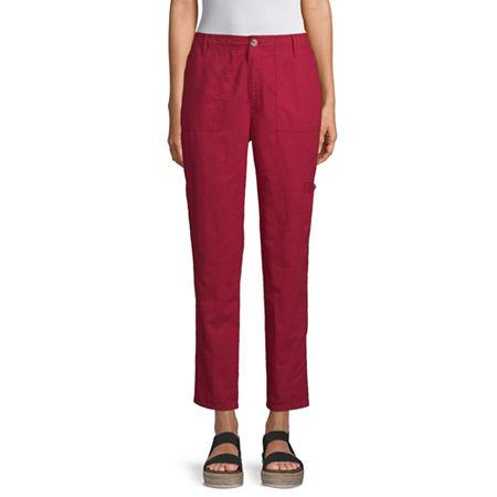 Liz Claiborne Womens Cuffed Cargo Pant, 16 , Red