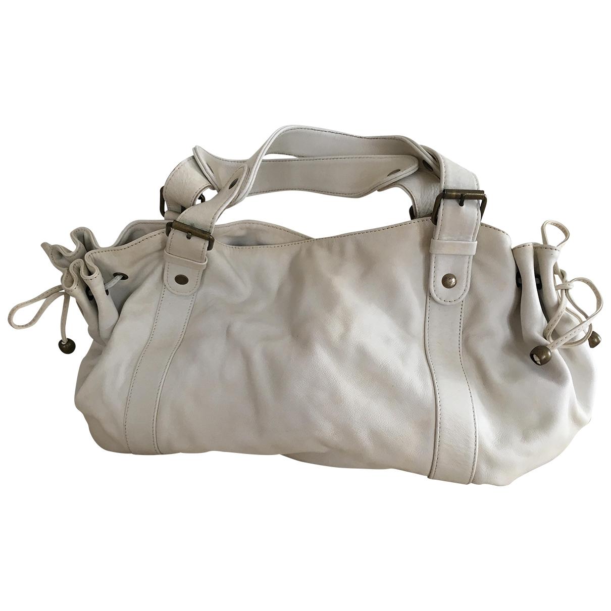 Gerard Darel 24h White Leather handbag for Women \N