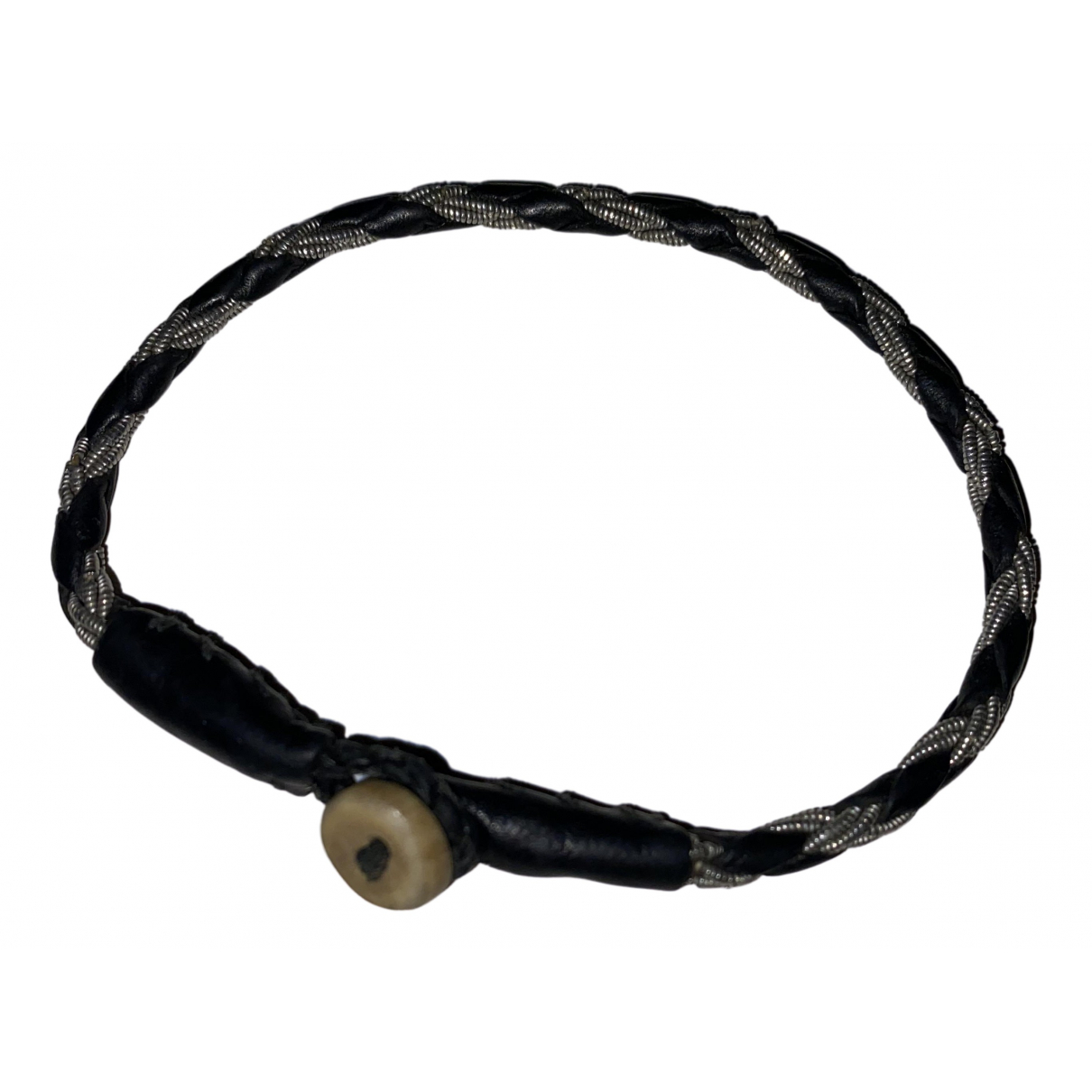 - Bracelet   pour femme en cuir - noir