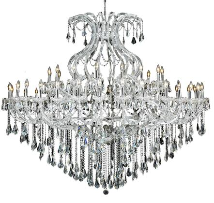 2801G72C/RC 2801 Maria Theresa Collection Large Hanging Fixture D72in H60in Lt: 48+1 Chrome Finish (Royal Cut