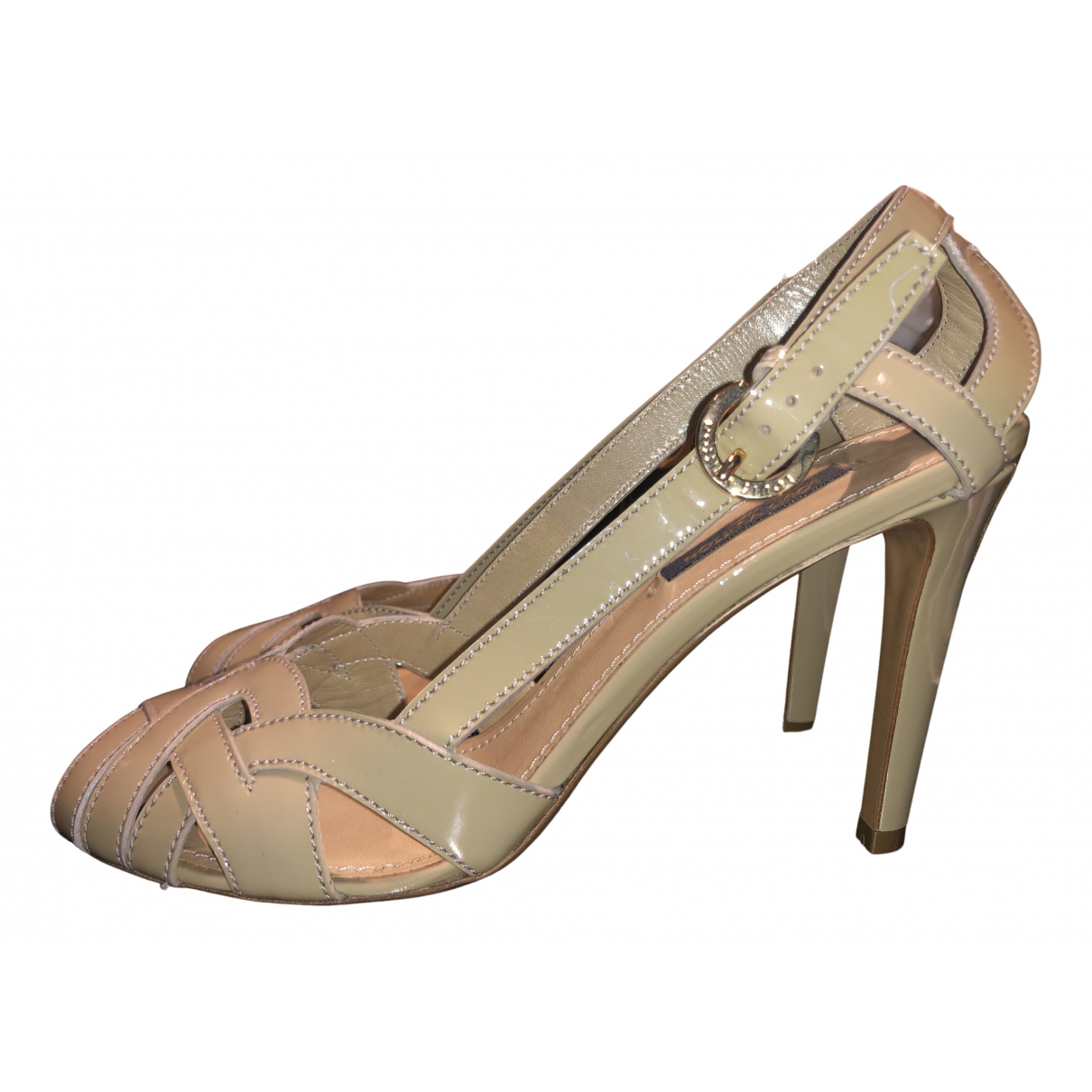 Louis Vuitton N Beige Patent leather Sandals for Women 37 EU