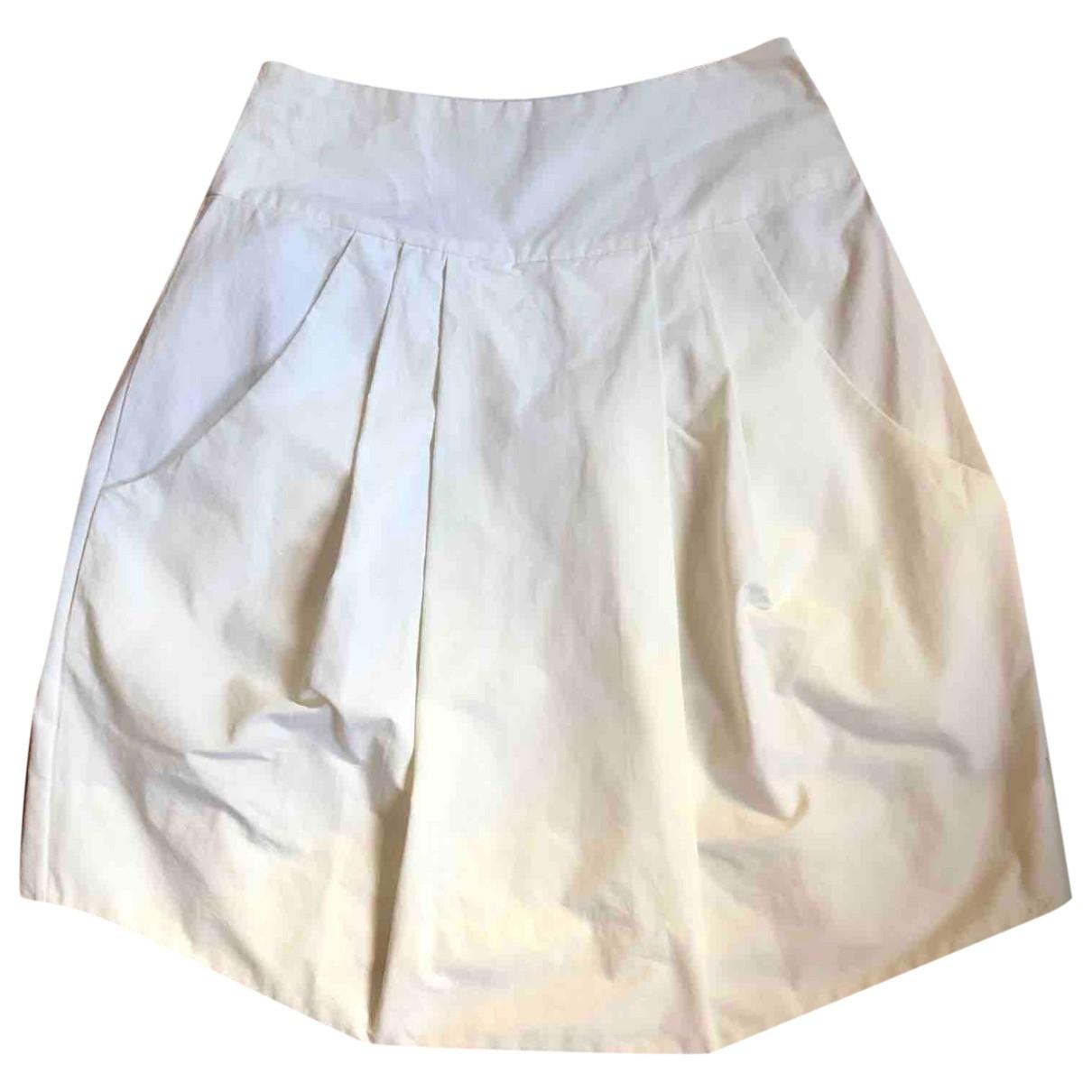 Marni - Jupe   pour femme en coton - blanc
