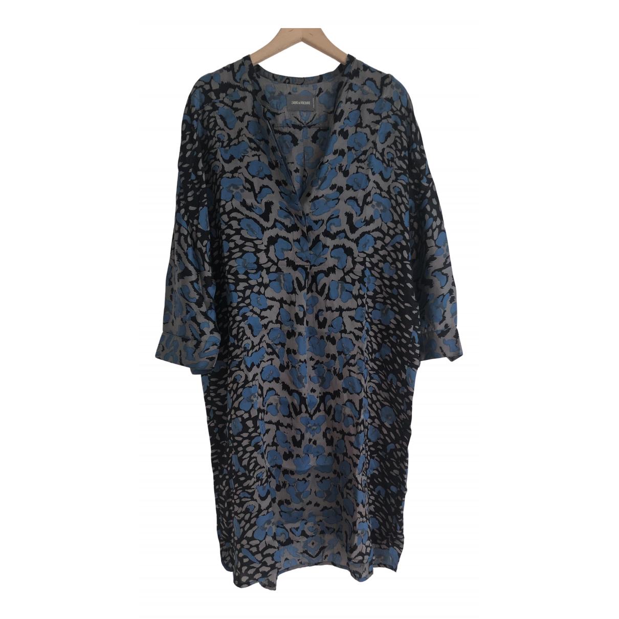 Zadig & Voltaire - Robe   pour femme en soie - bleu