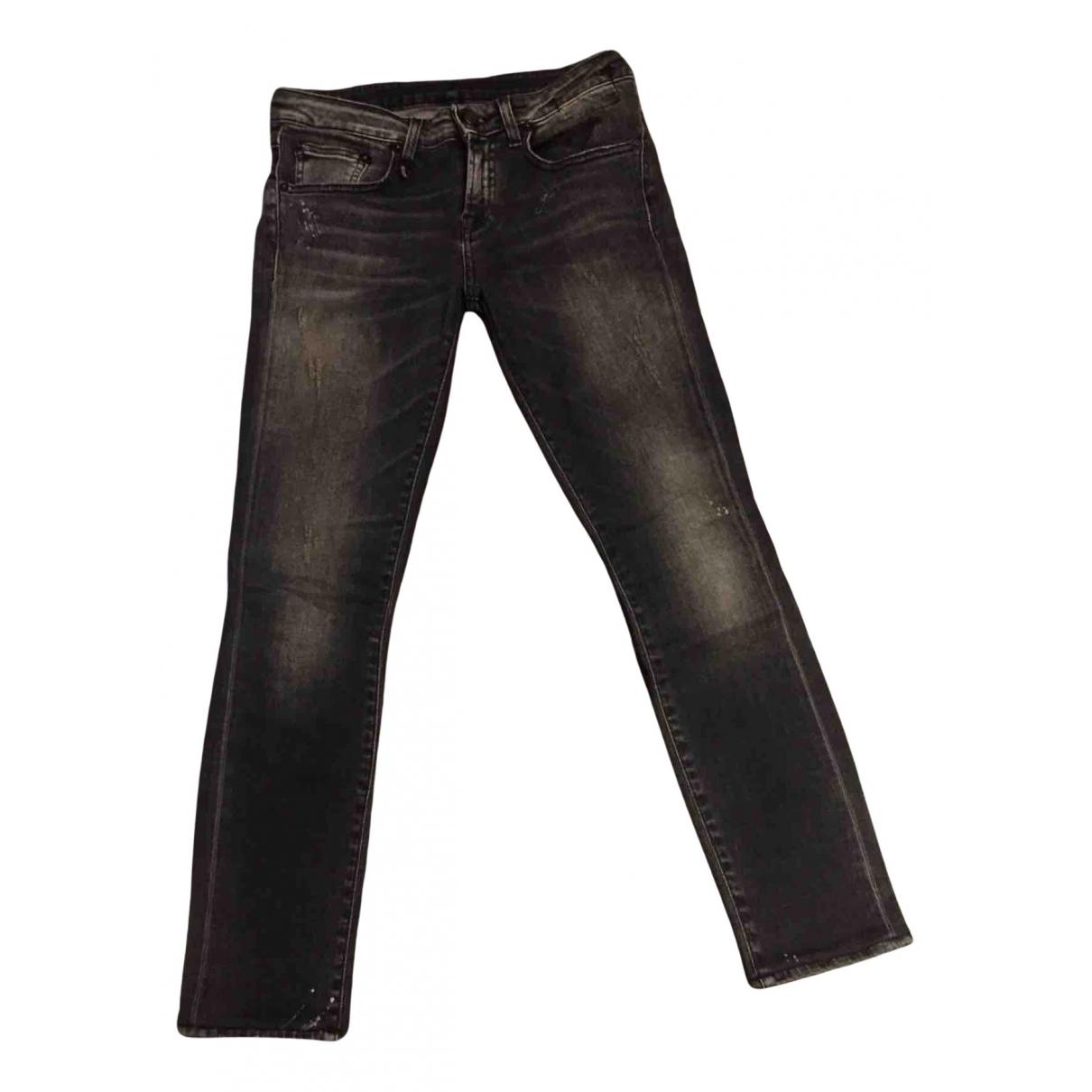 R13 - Jean   pour femme en coton - gris