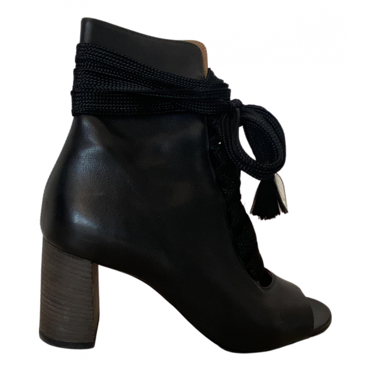 Chloé N Black Leather Ankle boots for Women 40 EU