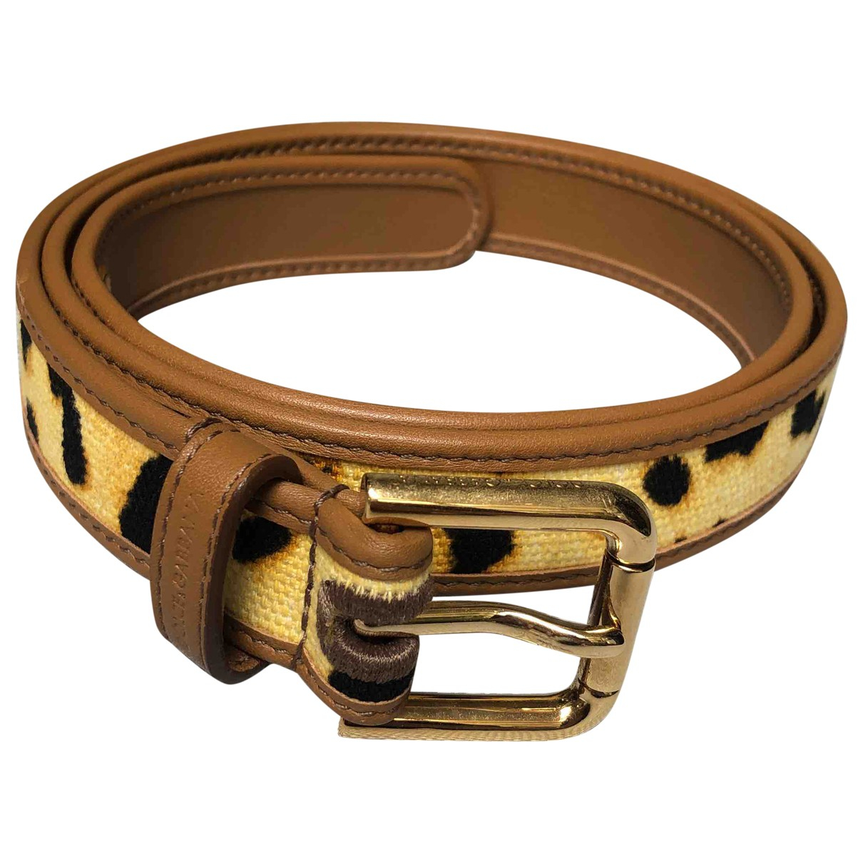 Dolce & Gabbana N Brown Leather belt for Women 85 cm