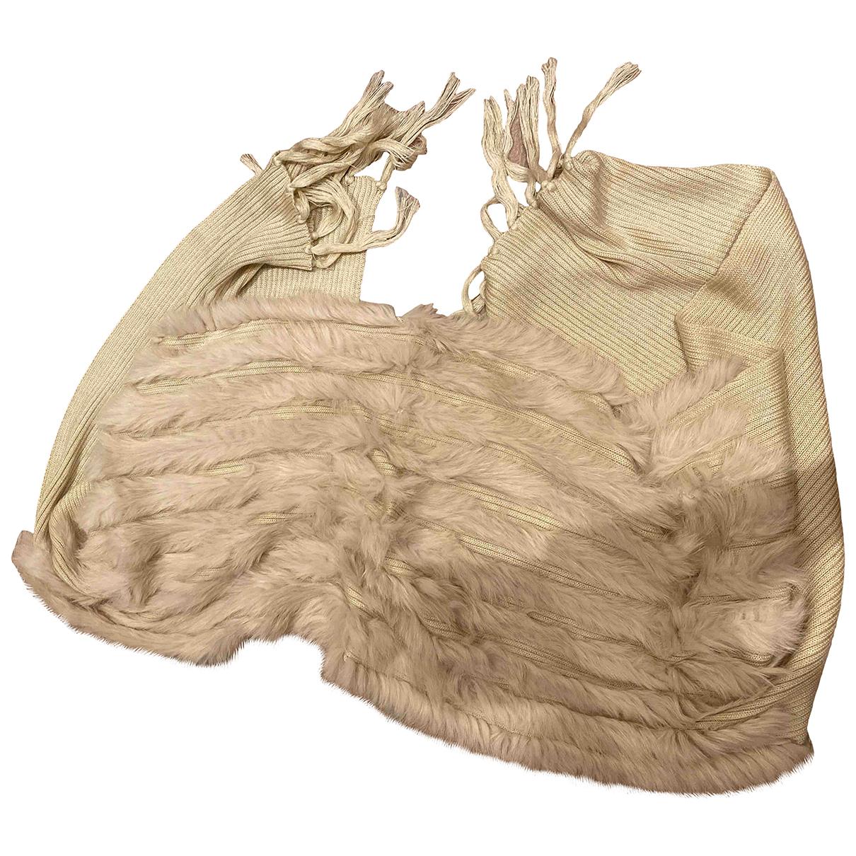 Kara N Beige Rabbit scarf for Women N