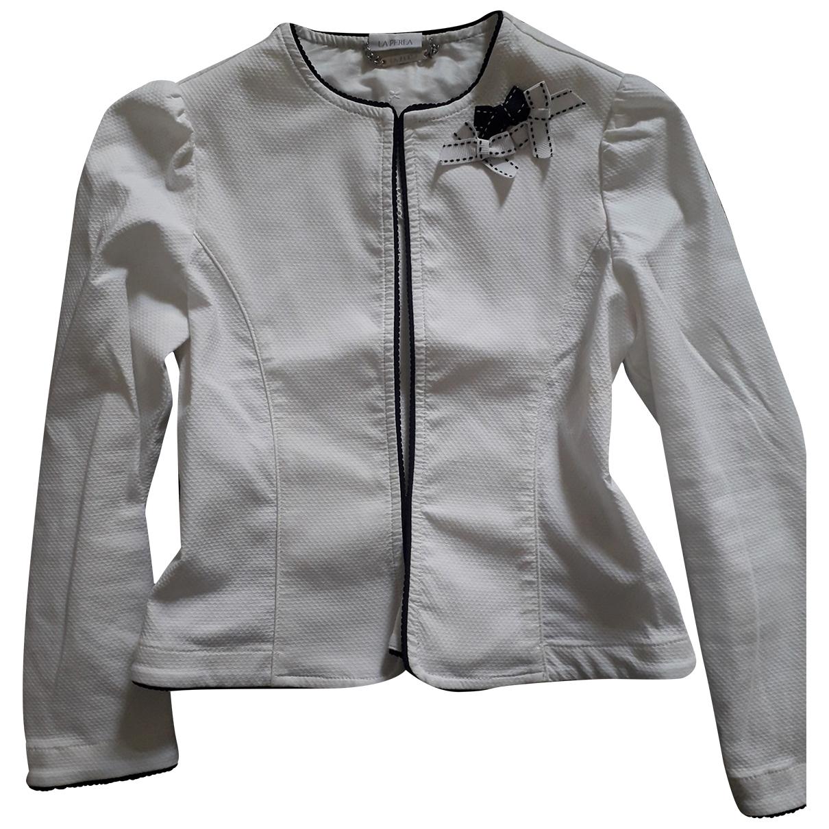La Perla - Blousons.Manteaux   pour enfant en coton - blanc