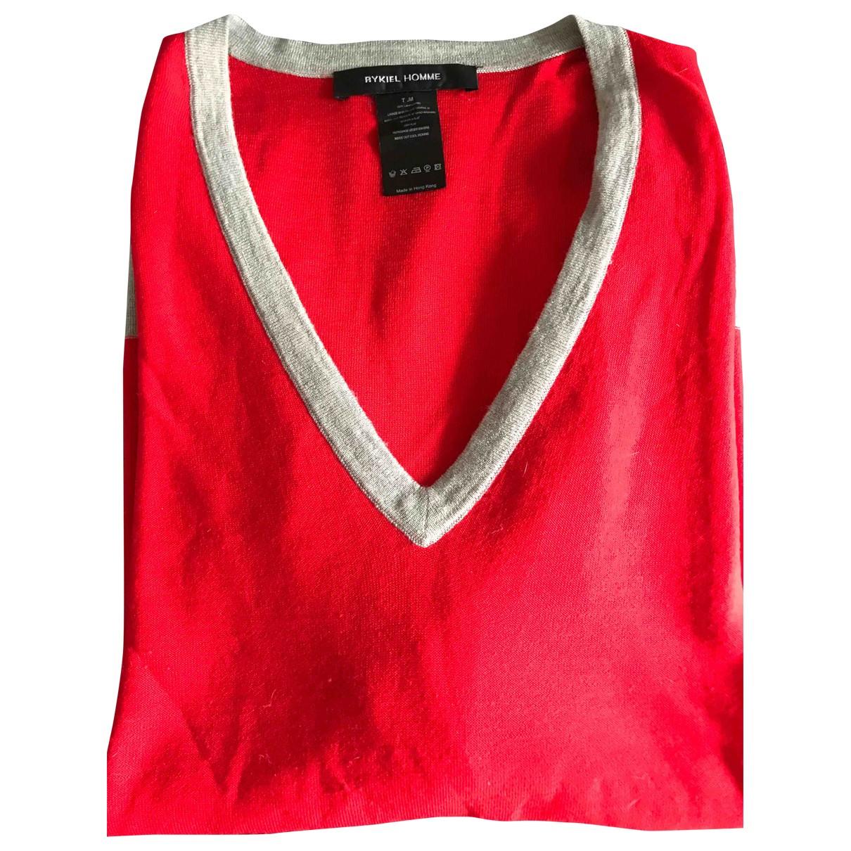 Rykiel Homme - Pulls.Gilets.Sweats   pour homme en coton - rouge