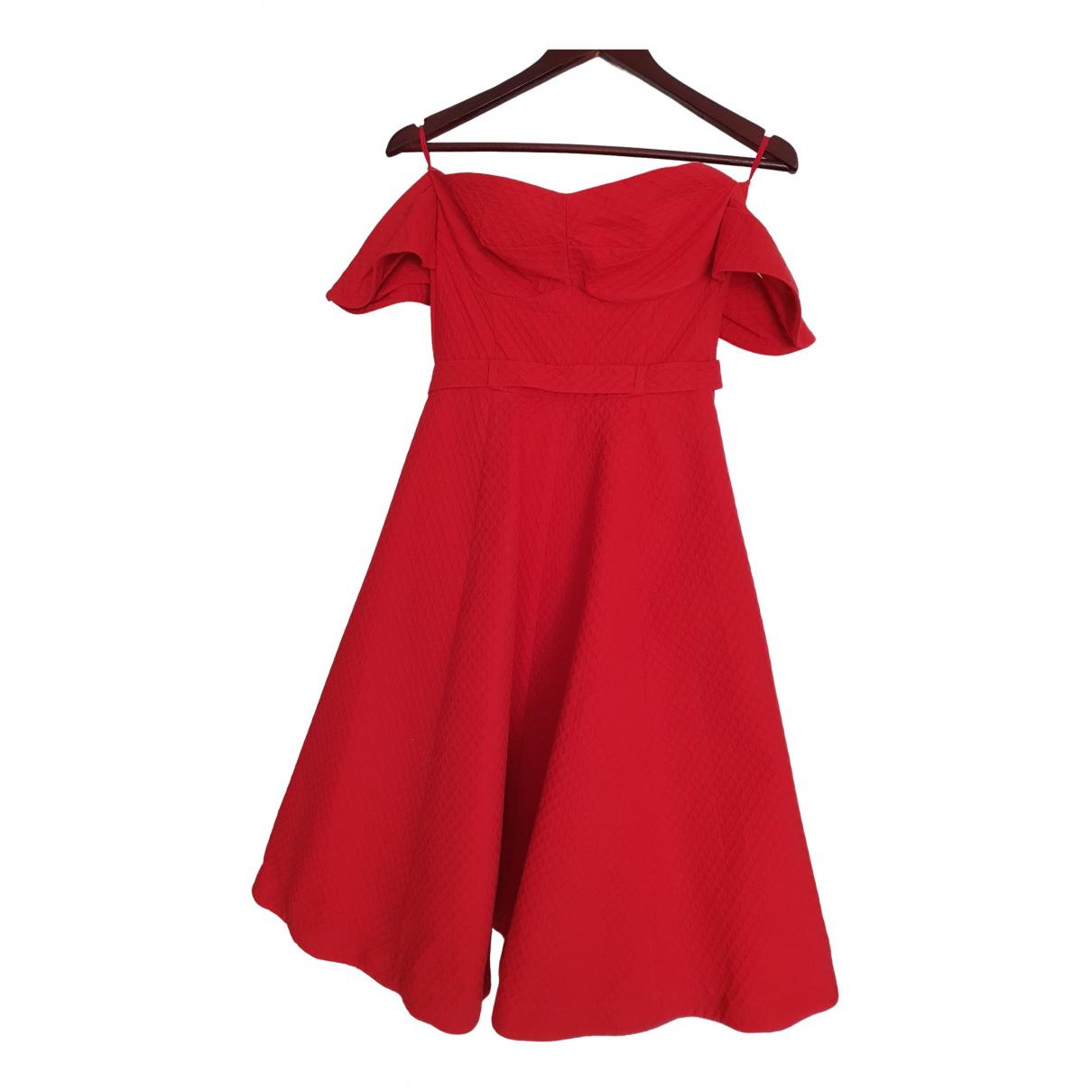 Vika Gazinskaya - Robe   pour femme en coton - rouge