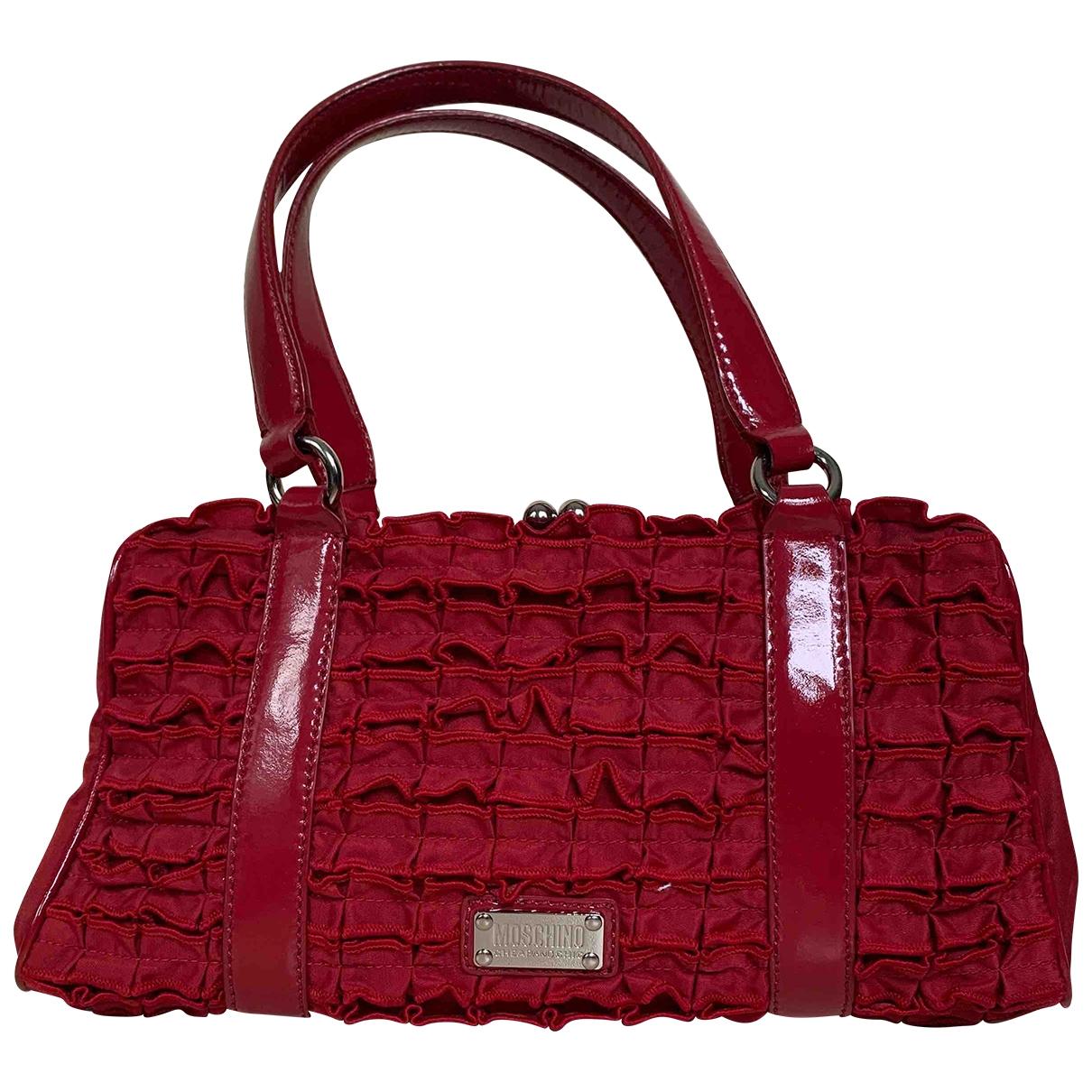 Moschino Cheap And Chic \N Handtasche in  Rot Leinen