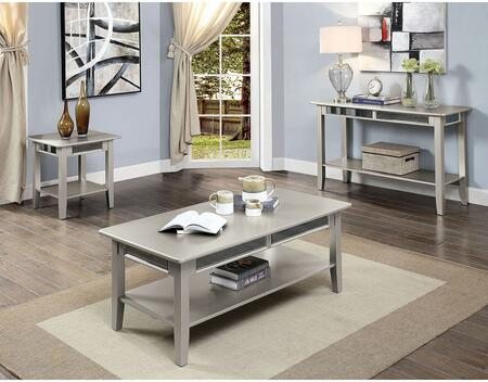 Celestine Collection CM4347CSET 3 PC Living Room Table Set with 47