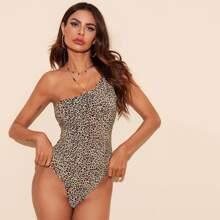 Body mit einer Schulter und Leopard Muster
