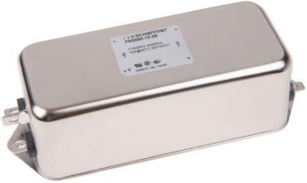 Schaffner , FN2080 10A 250 V ac 400Hz, Chassis Mount RFI Filter, Tab