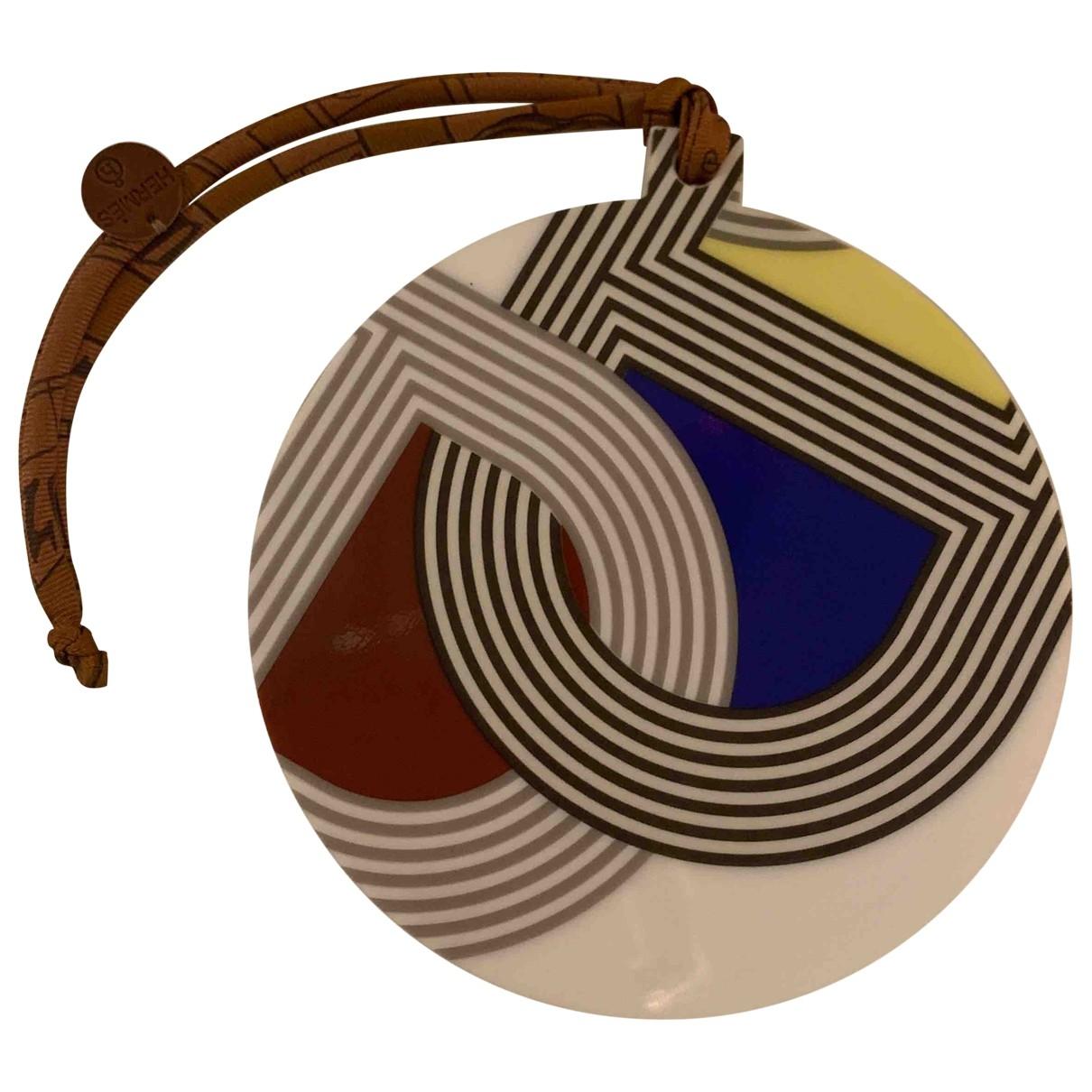 Hermes Petit H Anhaenger in  Bunt Keramik