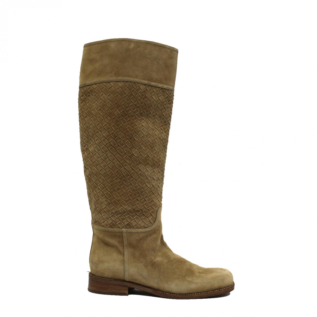 Bottega Veneta \N Brown Suede Boots for Women 36 EU