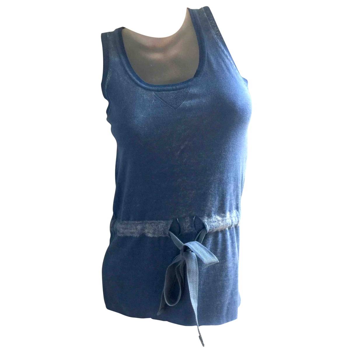Manoush \N Kleid in  Blau Baumwolle