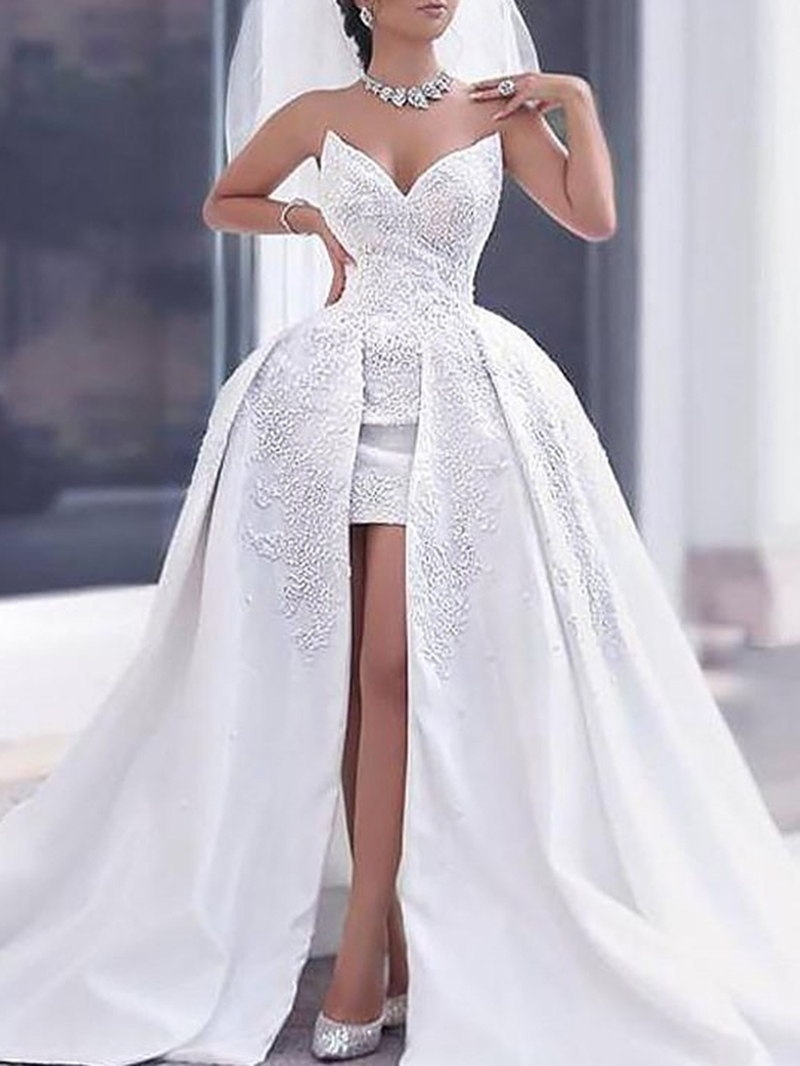 Ericdress Appliques Sweetheart Hi-Low Wedding Dress