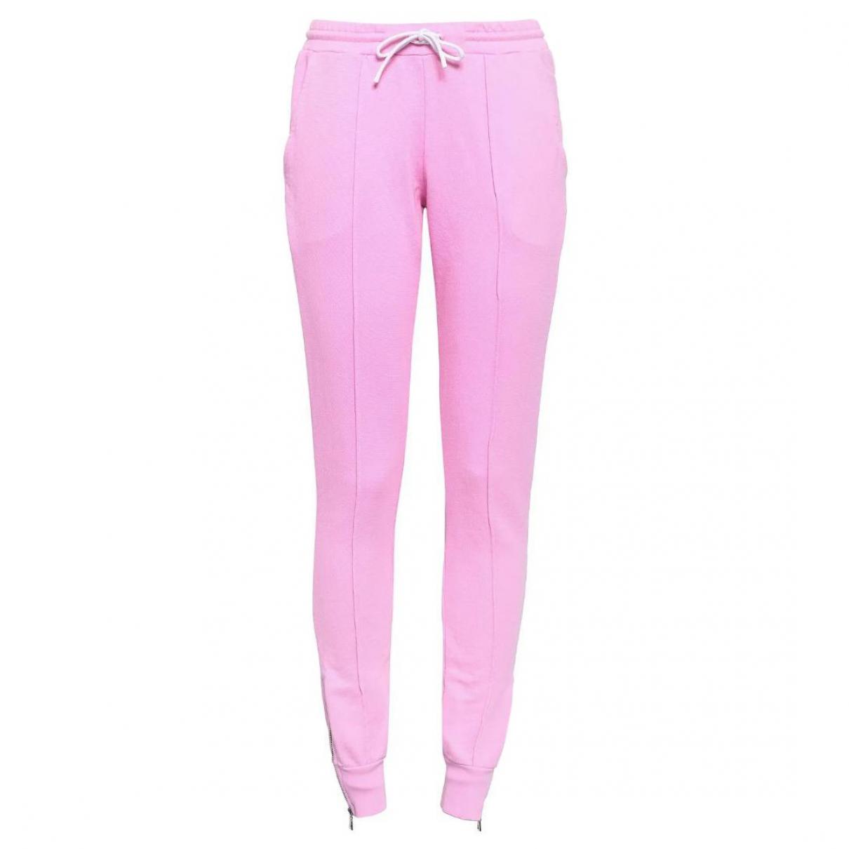 Pantalon en Algodon Rosa Cotton Citizen