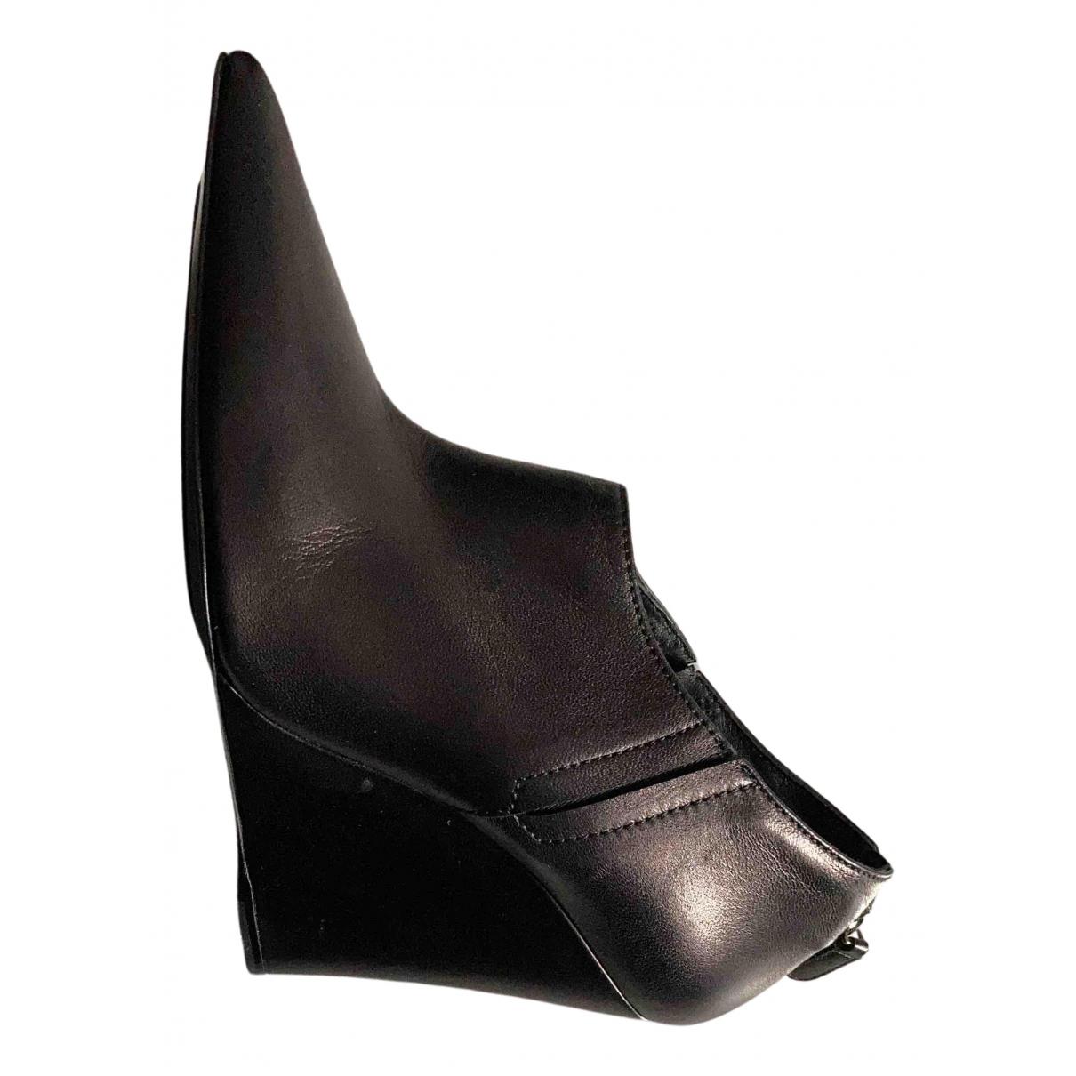 Barbara Bui N Black Leather Lace ups for Women 40 EU