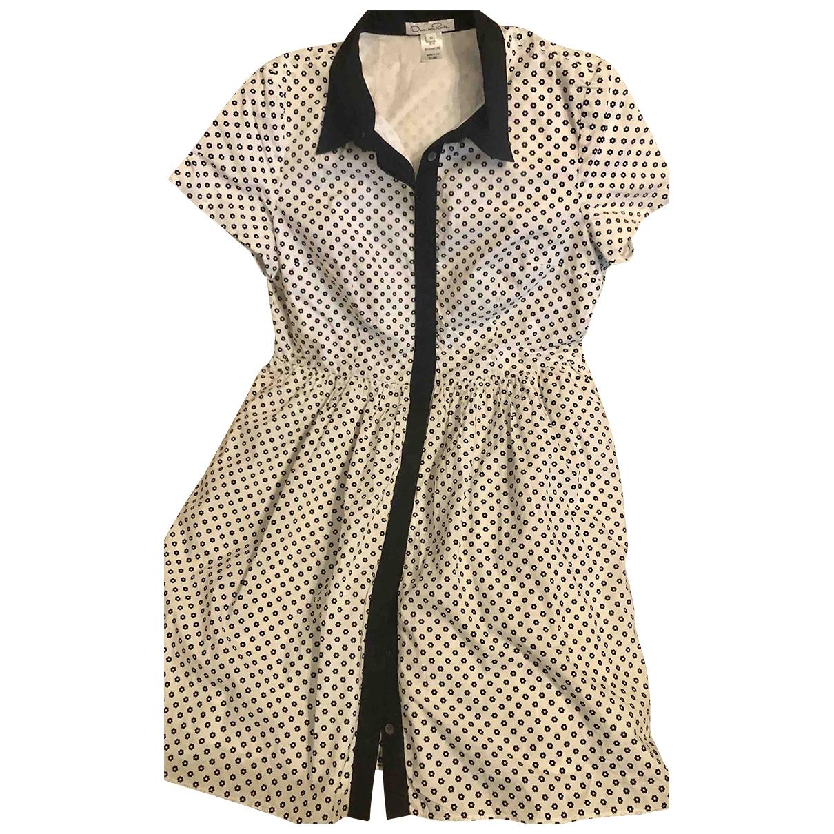 Oscar De La Renta \N White Cotton dress for Women 10 US