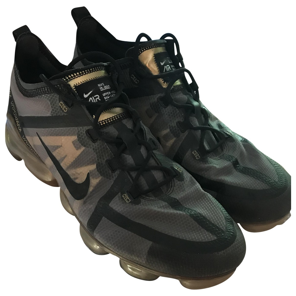 Nike Air VaporMax Gold Cloth Trainers for Men 45.5 EU