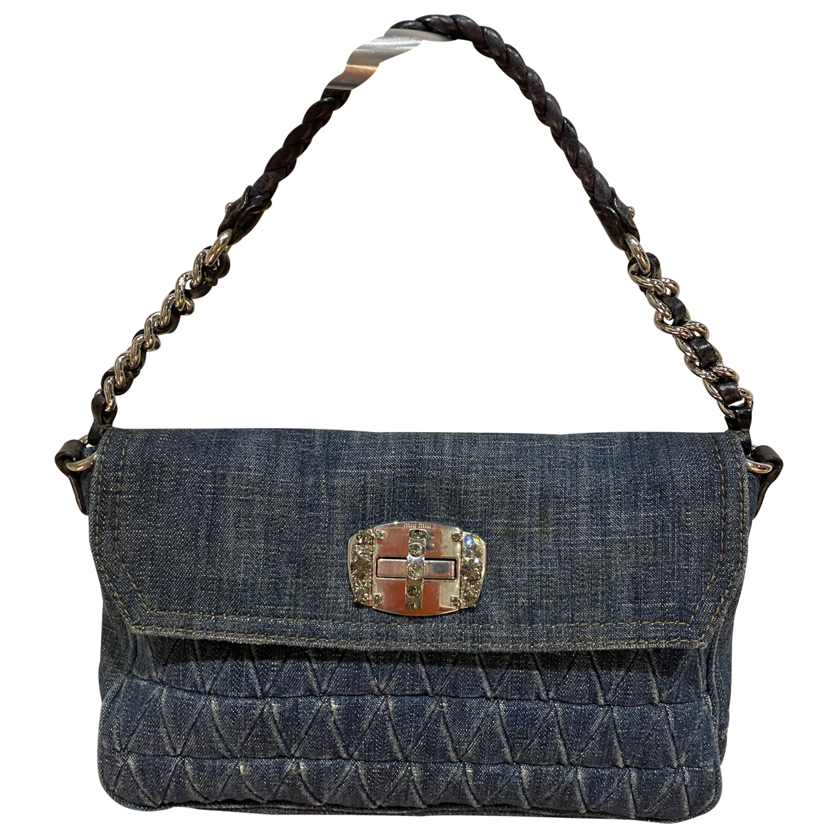 Miu Miu Miu Crystal Blue Denim - Jeans handbag for Women \N