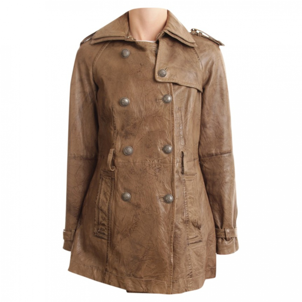 Drykorn \N Brown Leather jacket for Women 36 FR