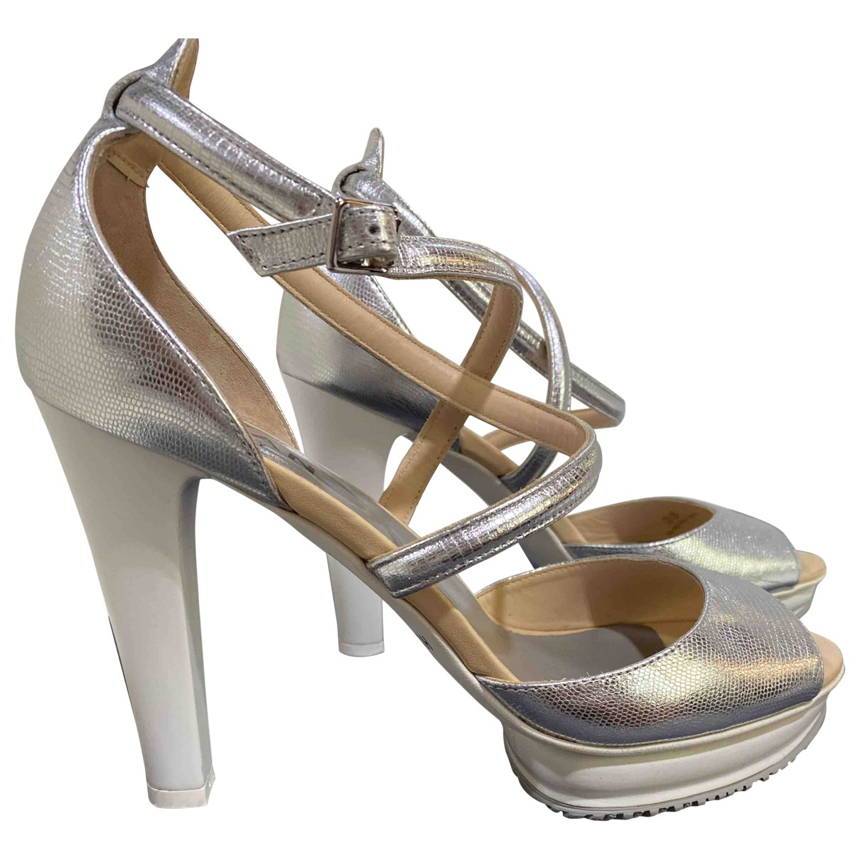 Hogan \N Sandalen in  Metallic Leder