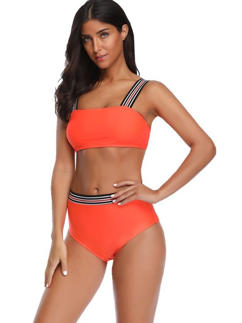 Ericdress Patchwork Plain Tankini Women's Swimwear