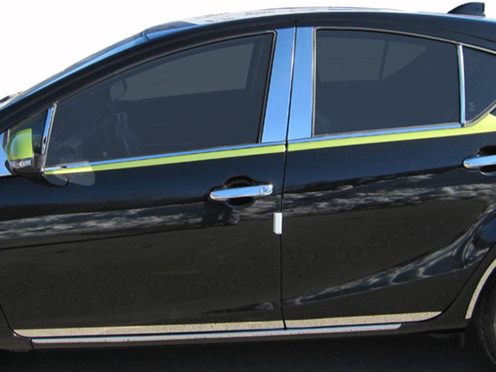 Quality Automotive Accessories Pillar Post Trim Toyota Prius C 12-18